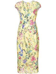 кружевное приталенное платье  Monique Lhuillier