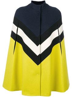 пальто дизайна колор-блок MSGM