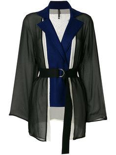 пиджак с полупрозрачной вставкой и поясом  Pierantoniogaspari