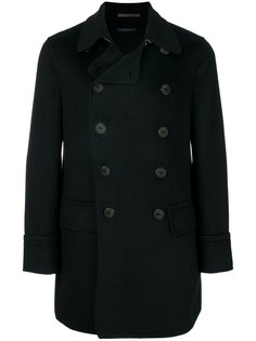 двубортное пальто строгого кроя Giorgio Armani