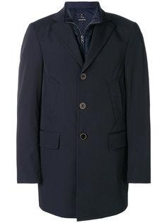 однобортное пальто со вставкой Fay