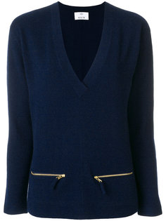 zip detail jumper Allude