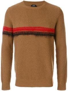 декорированный свитер в рубчик  Nº21