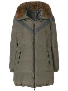 куртка с капюшоном и лисьим мехом Brunello Cucinelli