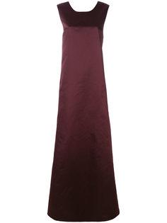 вечернее платье с глубоким вырезом и бантом на спине Rochas