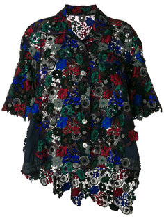 расклешенный кружевной пиджак  Sacai