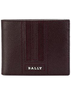 прошитый кошелек с логотипом Bally