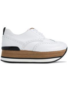 туфли на шнуровке и танкетке Hogan