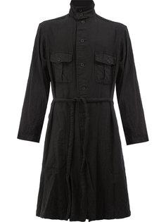 легкое пальто с поясом Yohji Yamamoto