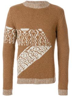 свитер с вышивкой A.P.C.