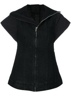 пиджак на молнии с короткими рукавами Rick Owens DRKSHDW