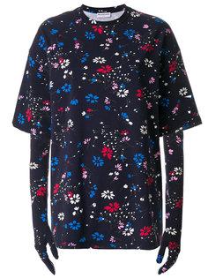 футболка с цветочным принтом и перчатками  Balenciaga