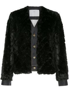 приталенный пиджак с контрастной отделкой  Toga Pulla