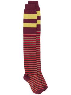 удлиненные полосатые носки Marni