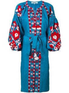 платье миди Flower Pixel с вышивкой March 11
