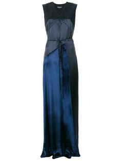 платье с V-образным вырезом Salvatore Ferragamo