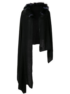 асимметричный шарф с мехом енота Charlotte Simone
