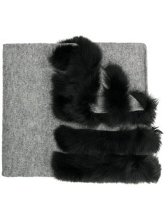 шарф с лисьим мехом Charlotte Simone