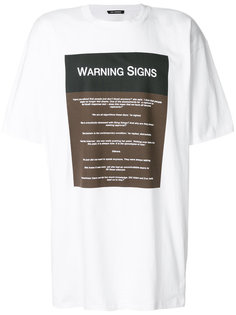 футболка Warning Signs Raf Simons