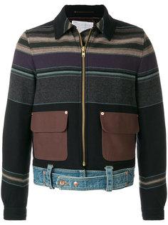 куртка с полосатыми вставками Kolor