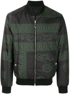 куртка-бомбер  с принтом в стиле барокко Versace Collection