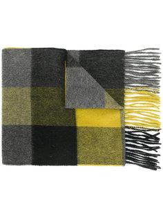 шарф с бахромой в клетку Paul Smith
