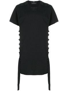 футболка с ремешками Balmain