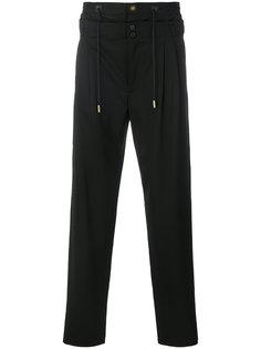 многослойные брюки с эластичным поясом Saint Laurent