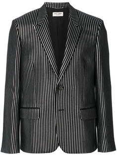 полосатый пиджак Saint Laurent