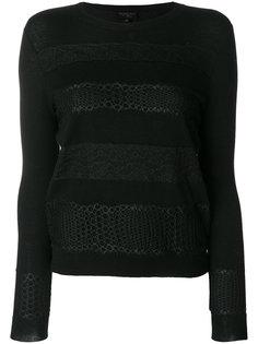 свитер с кружевными полосками Giambattista Valli