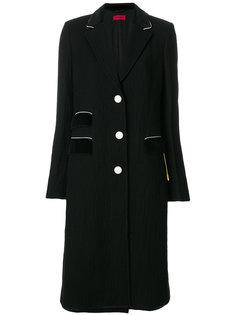 длинное однобортное пальто The Gigi