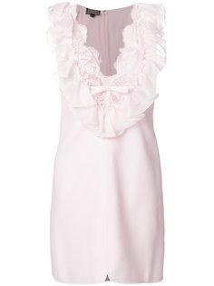 платье с кружевной отделкой и V-образным вырезом  Giambattista Valli