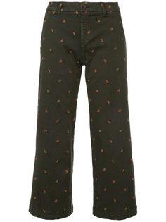 укороченные джинсы с вышивкой P.A.R.O.S.H.
