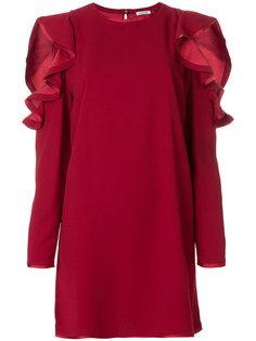 платье шифт с вырезами на плечах  P.A.R.O.S.H.