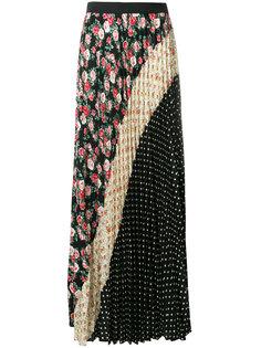 плиссированная юбка в горох с цветочным принтом  P.A.R.O.S.H.