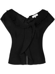 блузка с оборкой  Carven