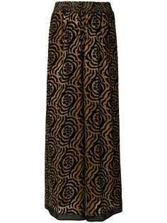 брюки-палаццо с цветочным принтом Stefano Mortari