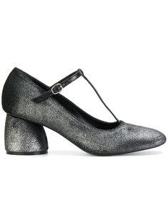 металлизированные туфли с Т-образным ремешком Strategia