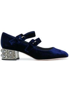 туфли с декорированными каблуками Sebastian