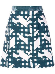 мини-юбка с графическим принтом  Carven