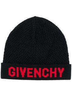 шапка-бини с вышивкой логотипа Givenchy
