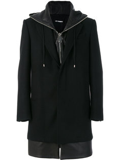 пальто с капюшоном Les Hommes