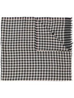 платок в клетку с вышивкой  Etro