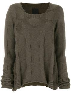 свитер с закругленным краем и узором в горох  Rundholz Black Label