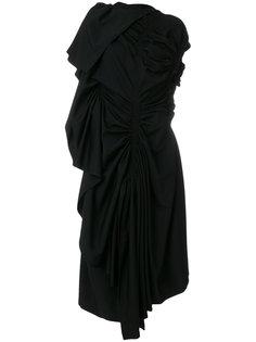 присборенное платье с драпировкой  Yohji Yamamoto