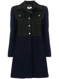 пальто с джинсовой курткой  Mm6 Maison Margiela