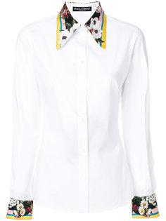 рубашка с цветочной окантовкой Dolce & Gabbana