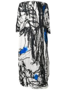 платье с графическим принтом  Daniela Gregis