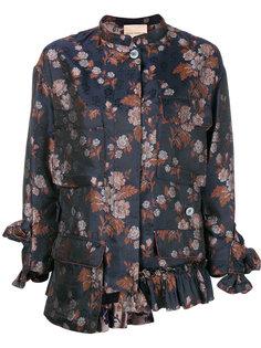 жаккардовый пиджак с цветочным принтом  Erika Cavallini