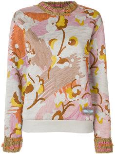джемпер с цветочным принтом Prada